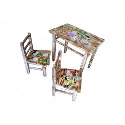 13711 Dětský dřevěný stoleček se židličkami