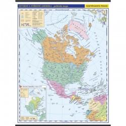 13729 Severní a stzřední Amerika, politická mapa
