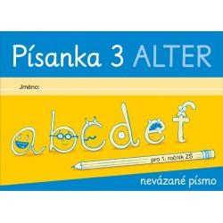 92138 Alter - PÍSANKA 3 pro 1. ročník - nevázané písmo