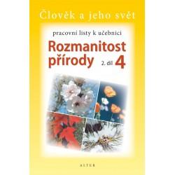 92912 Alter - PRACOVNÍ LISTY k učebnici ROZMANITOST PŘÍRODY 4/1
