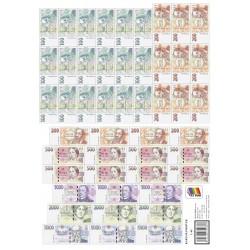 0164 Karta bankovek (Kč)