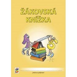 0303 Žákovská knížka pro 3.-9.roč., podle předmětů, oranž.barva