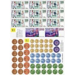 1-18 Papírové mince a bankovky (sada)
