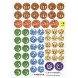 Papírové mince (samostatně)
