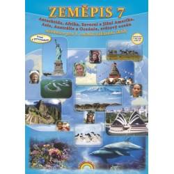 77-45 Zeměpis 7 - Antarktida, Afrika, Amerika, Asie, Austrálie a Oceánie, světový oceán - učebnice