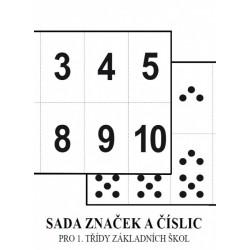 0165 Soubor značek a číslic NOVĚ pro 1. ročník