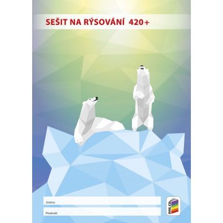 13511 Sešit na rýsování 420+ (bílé listy)
