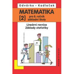 14031 Matematika 8/2. díl - Lineární rovnice, základy statistiky