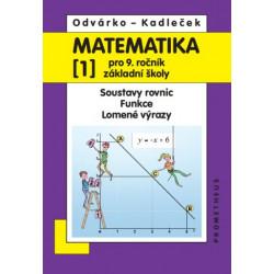 14034 Matematika 9/1. díl - Soustavy rovnic, funkce, lomené výrazy