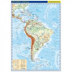 13743 Jižní Amerika - obecně zeměpisná mapa