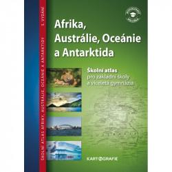 13733 Afrika, Austrálie, Oceánie, Antarktida - školní atlas