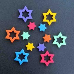 8491 Dekorace hvězdičky 6*