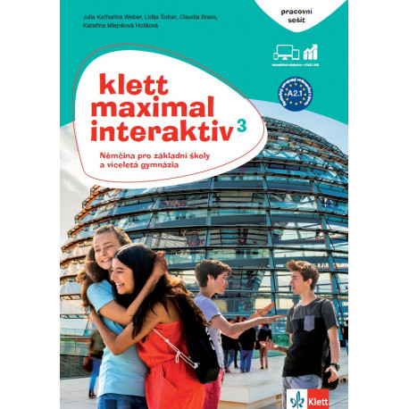 14129 Klett Maximal interaktiv 3 (A2.1) – pracovní sešit barevný s kódem