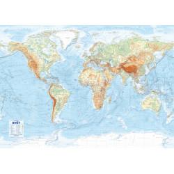 13736 Svět – nástěnná obecně zeměpisná mapa