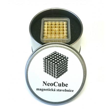 8652 NeoCube zlaté – magnetická stavebnice, 216 kuliček, 5 mm