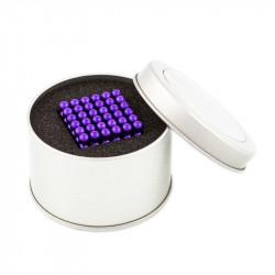 8656 NeoCube fialové – magnetická stavebnice, 216 kuliček, 5 mm