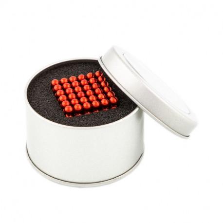 8659 NeoCube červené – magnetická stavebnice, 216 kuliček, 5 mm