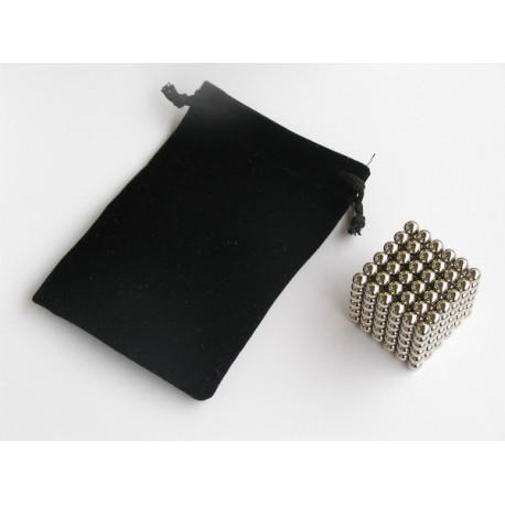 8669 Sametový sáček pro magnetickou stavebnici MagCube, NeoCube, černý