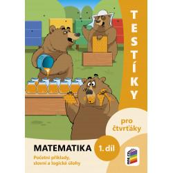 0420 Testíky pro čtvrťáky – matematika, 1. díl (barevný pracovní sešit)
